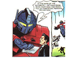 Ronald Reagan in a Transformers comic
